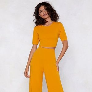 Nasty Gal Mustard yellow Set with tags